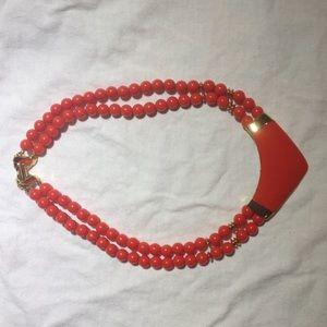 Retro red necklace